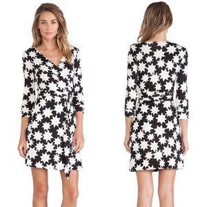 DVF Julian Two Silk-Jersey Wrap Dress Stars NEW
